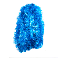 10m  SKY BLUE  Christmas Tinsel  -  150mm wide