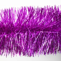 10m  LIGHT PURPLE  Christmas Tinsel  -  75mm wide