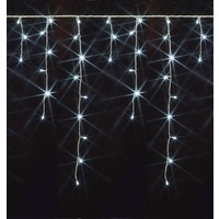 COOL WHITE 120 LED Christmas Icicle Lights - 2.5 metres