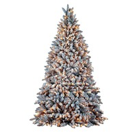 SNOWY FLOCKED  8ft  / 2.4m  2067 Tips - 700 LED Lights