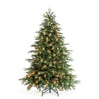 6ft Pre Lit Green DELAWARE Christmas Tree 3476 Tips 300 LED Lights