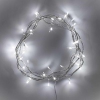 200 Led 20m Christmas Tree Lights COOL WHITE Fairy Strings Lighting Wedding