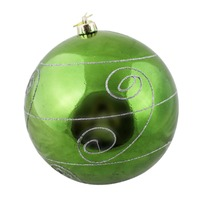 200mm Christmas Decorative Swirl Bauble Green 1 Ball
