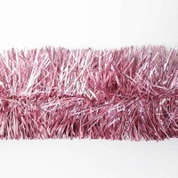 25m   LIGHT PINK   Christmas Tinsel   -   75mm wide