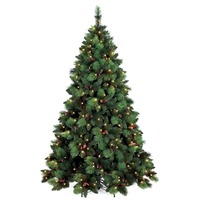 6ft Pre Lit PHOENIX Christmas Tree Green 250 LED Warm White