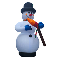 Giant Snowman Christmas Inflatable - 13.33ft / 4m