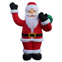 4M Giant Christmas Santa Claus Inflatable Outdoor Decoration