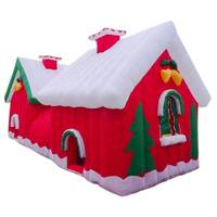 Giant Santa House Christmas Inflatable 7L x 3W x 3m H