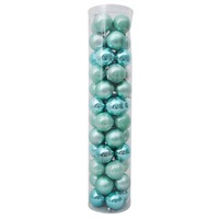 80mm Christmas Baubles Aqua Mist 45 Balls