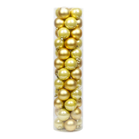 Gold Christmas Baubles 70mm Pearl Matt