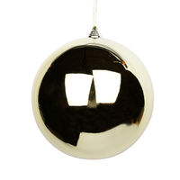 GOLD  200mm Christmas Bauble   Gloss   Shiny