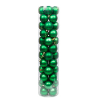 Green Christmas Baubles 60mm Matt 48 Pack
