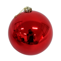 RED   200mm   Christmas Bauble     SHINY