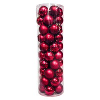 Christmas Baubles Ball 80mm DARK RED 45 Balls