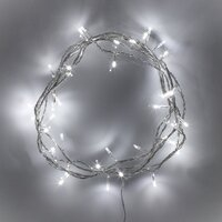 SOLAR  COOL WHITE  20m -100 LED  Christmas Tree Fairy Lights