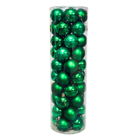 Christmas Baubles Ball 80mm GREEN 45 Balls
