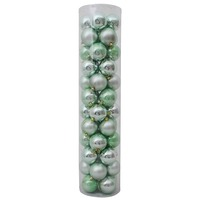 80mm Christmas Baubles Mint 45 Balls Gloss Pearl Matt