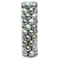 Christmas Baubles 70mm SILVER 45 Balls SP