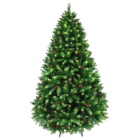8ft/240cm Pre Lit BALTIMORE Pine Green Christmas Tree 2474 Tips 640 LED Lights