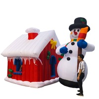 Giant Santa House With Icicles Inflatable - 3m