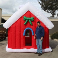 3M Christmas Inflatable Santa House Outdoor Decoration