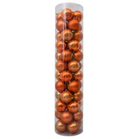 80mm Christmas Baubles Toffee 45 Balls Gloss Pearl Matt