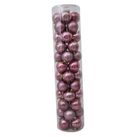 80mm Christmas Baubles Wildberry 45 Balls Gloss Pearl Matt