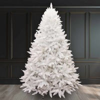 10ft/300cm WHITE Christmas Tree BAVARIAN Fir 4866 Tips Hinged