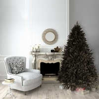 6ft/180cm BLACK Christmas Tree BAVARIAN Fir 1070 Tips Hinged