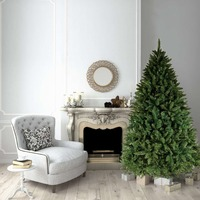 7ft/210cm GREEN Christmas Tree BAVARIAN Fir 1750 Tips Hinged