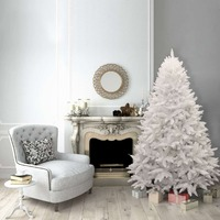 8ft Christmas Tree White Bavarian Premium Pine Hinged 2900 Tips