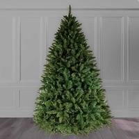 9ft Christmas Tree Green Bavarian Premium Pine Hinged 3810 Tips