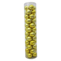 80mm Christmas Baubles Yellow 45 Balls Gloss Pearl Matt