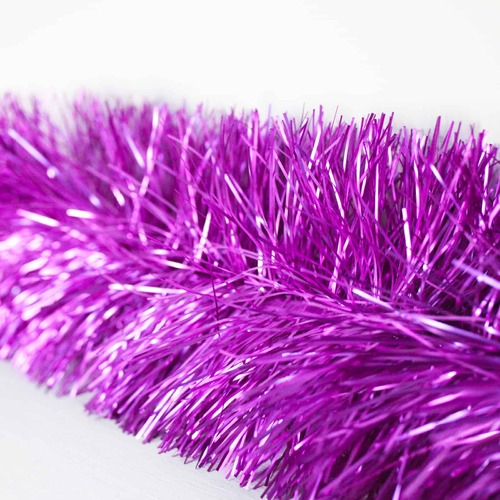25m   LIGHT PURPLE   Christmas Tinsel  -  100mm wide