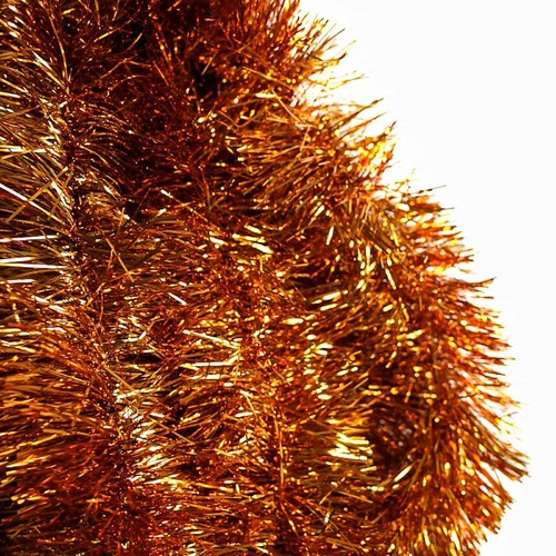 25m   ORANGE   Christmas Tinsel   -   75mm wide