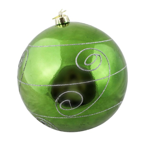 400mm Christmas Decorative Edge Bauble Green 1 Ball