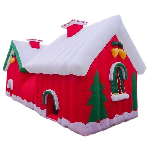 Santa House Giant Inflatable 7 x 3 x 3 Indoor Outdoor