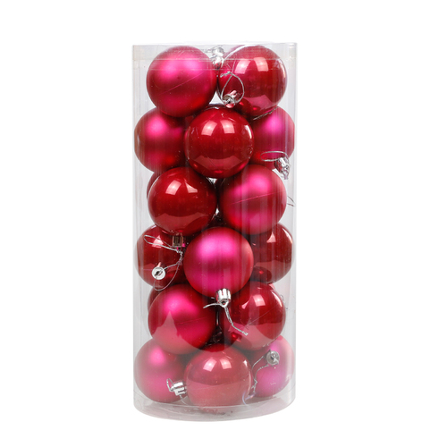 Watermelon Gold Christmas Baubles 80mm Pearl Matt [Available Christmas Bauble Packs: 24]
