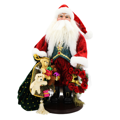 Christmas Santa Ornament Traditional Red & White 48cm