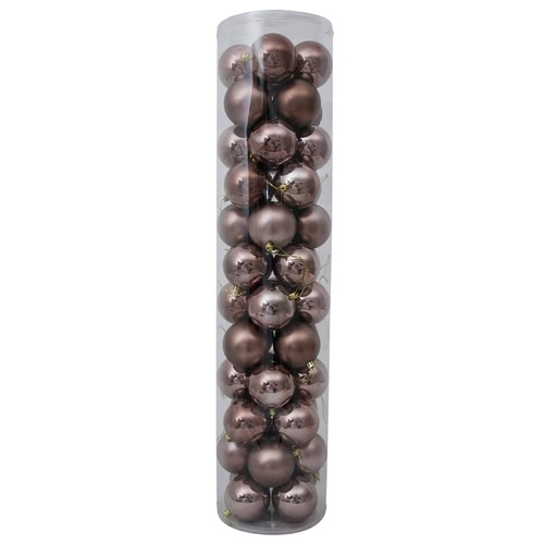 80mm Christmas Baubles Light Brown 45 Balls