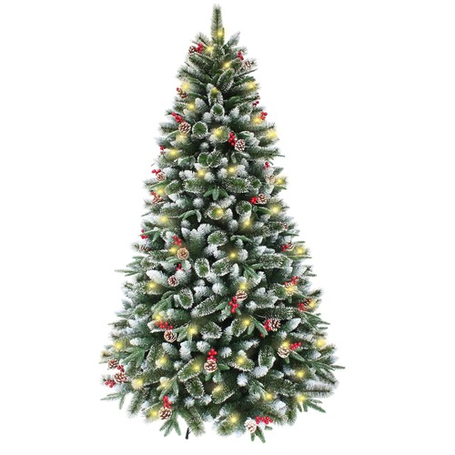 SNOWY MOUNTAINS Pine  7ft / 2.1m     1056 Tips - 340 LED Lights